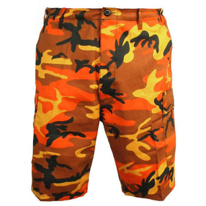 BDU Orange Camo Shorts
