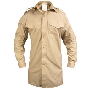 British Army Long Sleeve Fawn Shirt