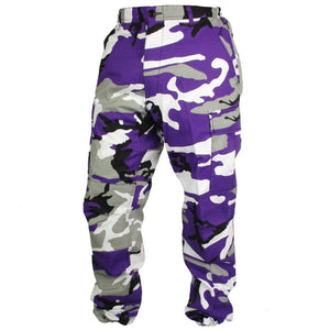 Tactical Camo BDU Pants - Purple