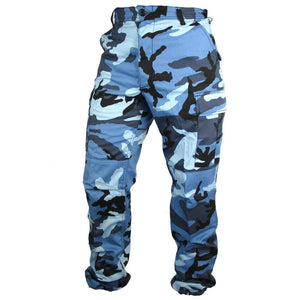 Tactical Camo BDU Pants - Sky Blue