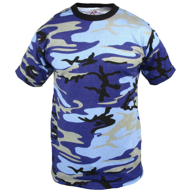 Coloured Camo T-Shirt - Electric Blue