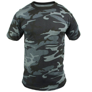Coloured Camo T-Shirt - Midnight Blue