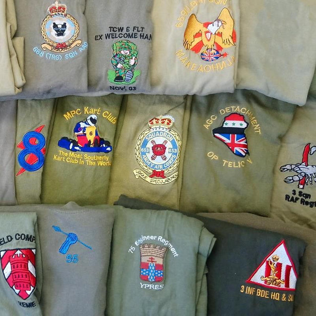 British OD T-Shirt with Embroidered Unit