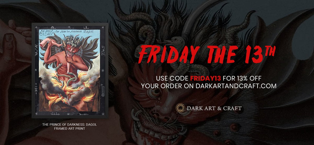 Friday the 13th is Your Excuse to Get Dark Art Prints for 13% OFF