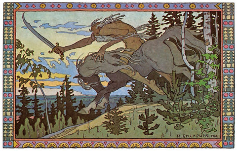 Ivan Bilibin Dark Forest Folklore