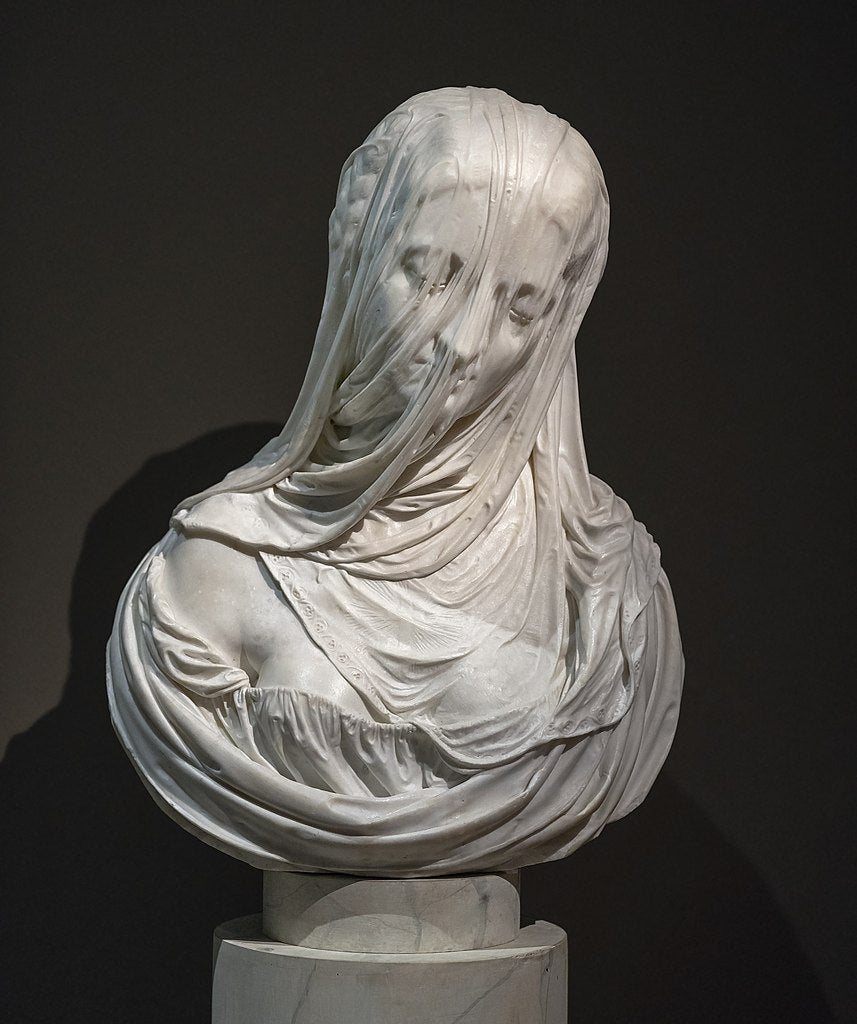 veiled dark art sculpture