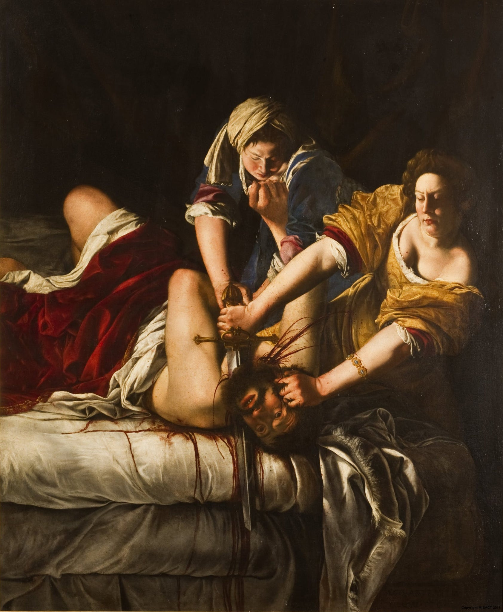 Artemisia Gentileschi judith most terrifying painting