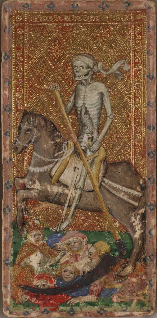 Death from the Cary-Yale Visconti tarot deck