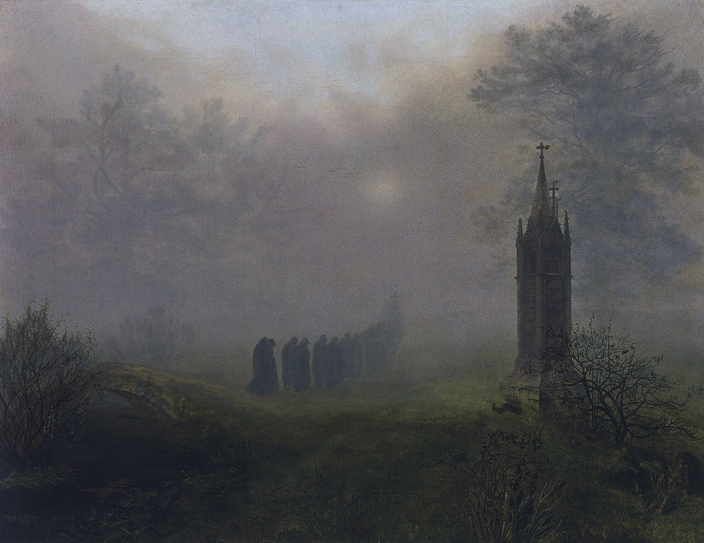 Procession in the Fog 1828 Ernst Ferdinand Oehme