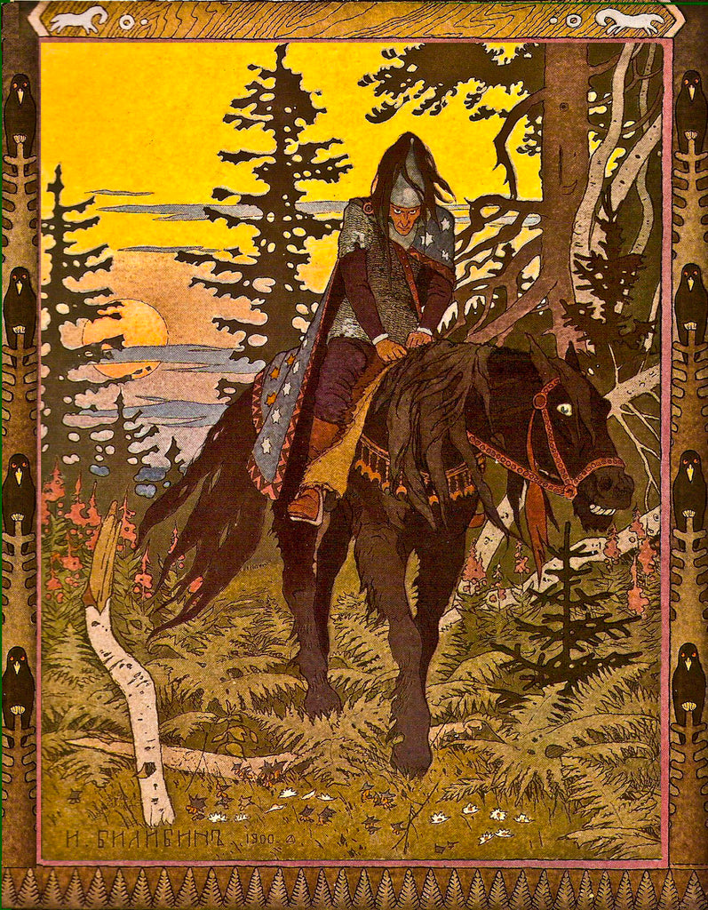 dark folk art Ivan Bilibin Dark Forest Folklore