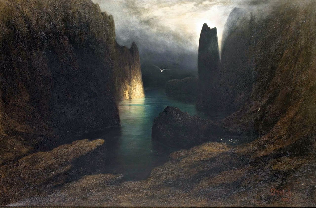 coast line of light karl diefenbach painting