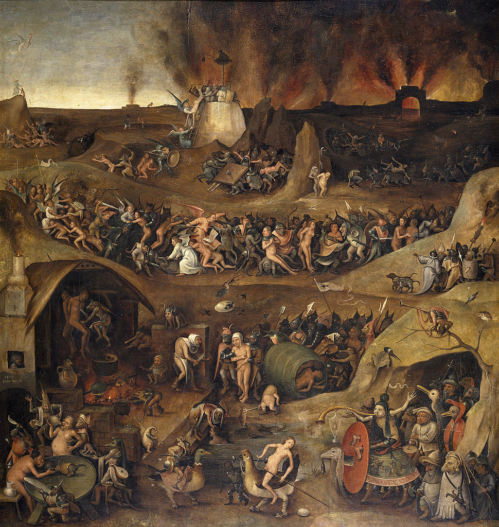 the inferno dark art landscape