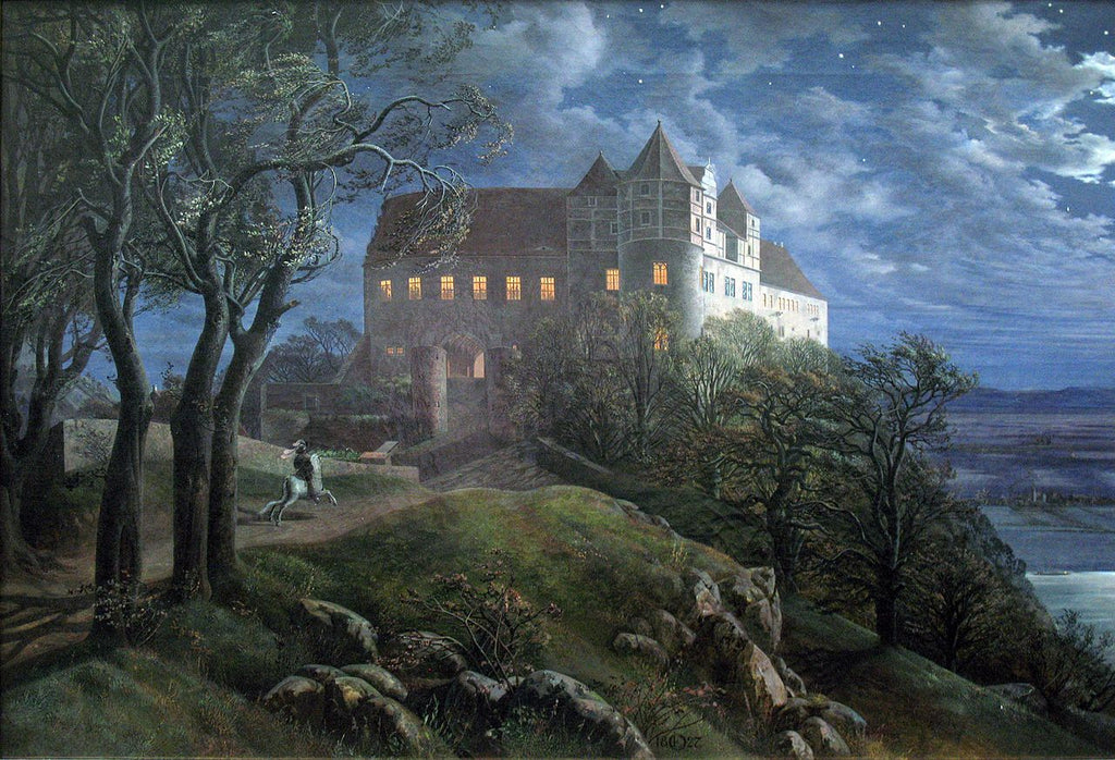 "Castle Scharfenberg at Night"", 1827, oil on canvas"