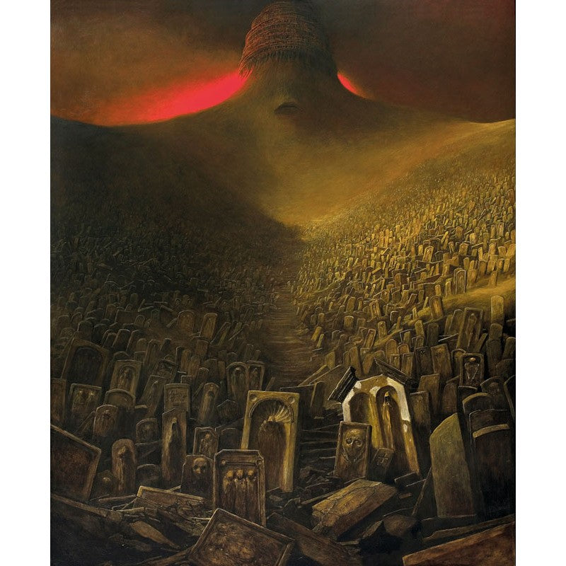 graves beksinski dark art painting