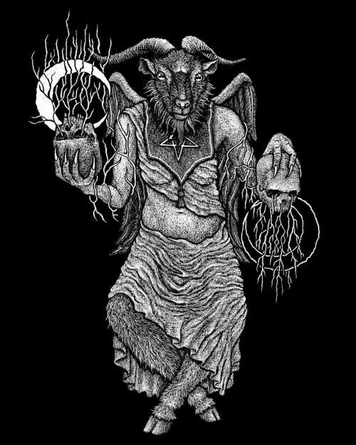 No above, no below. Baphomet for my friends at @thesatanictemple