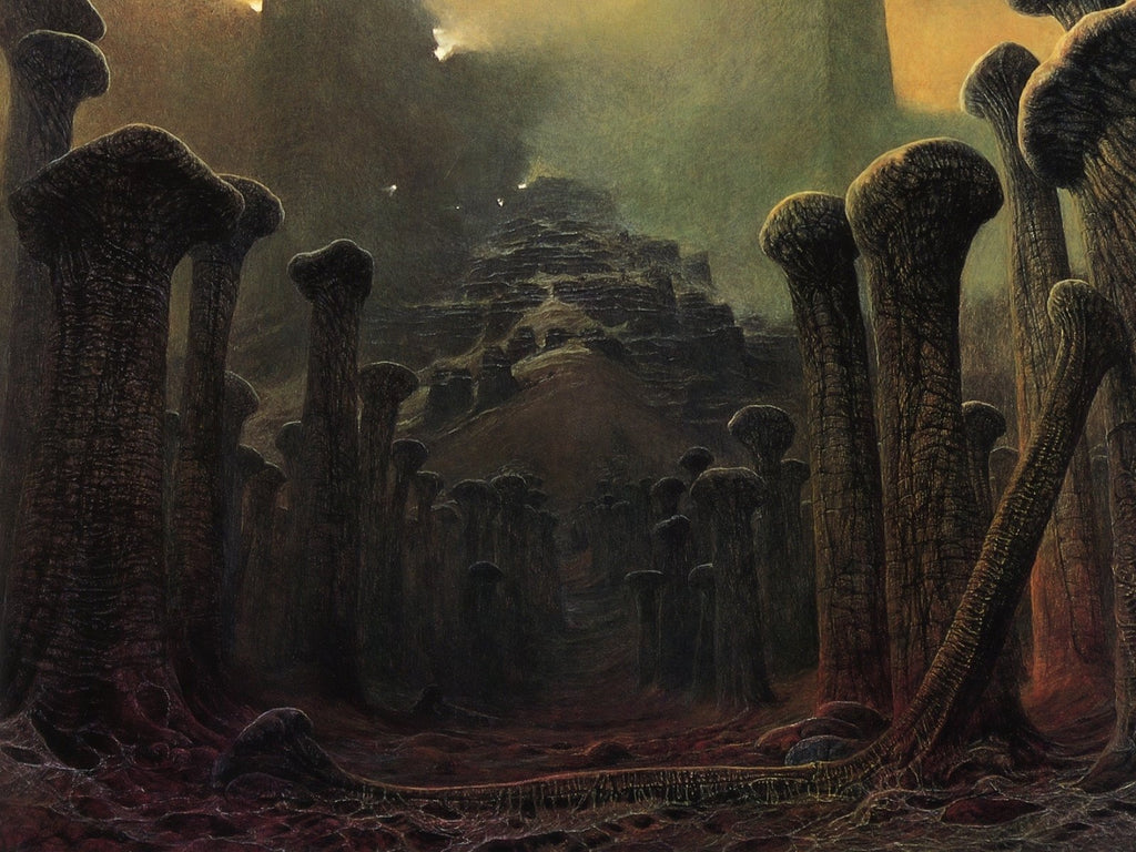 dark art surrealism Zdzisław Beksiński, Dystopian Dark Surrealism
