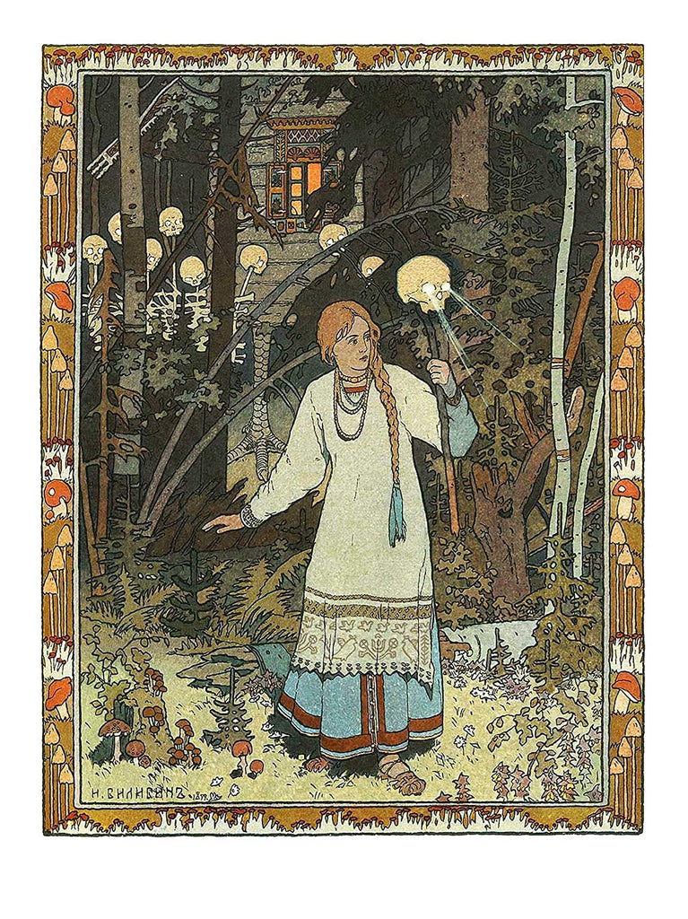 russian dark folk art print Ivan Bilibin Dark Forest Folklore