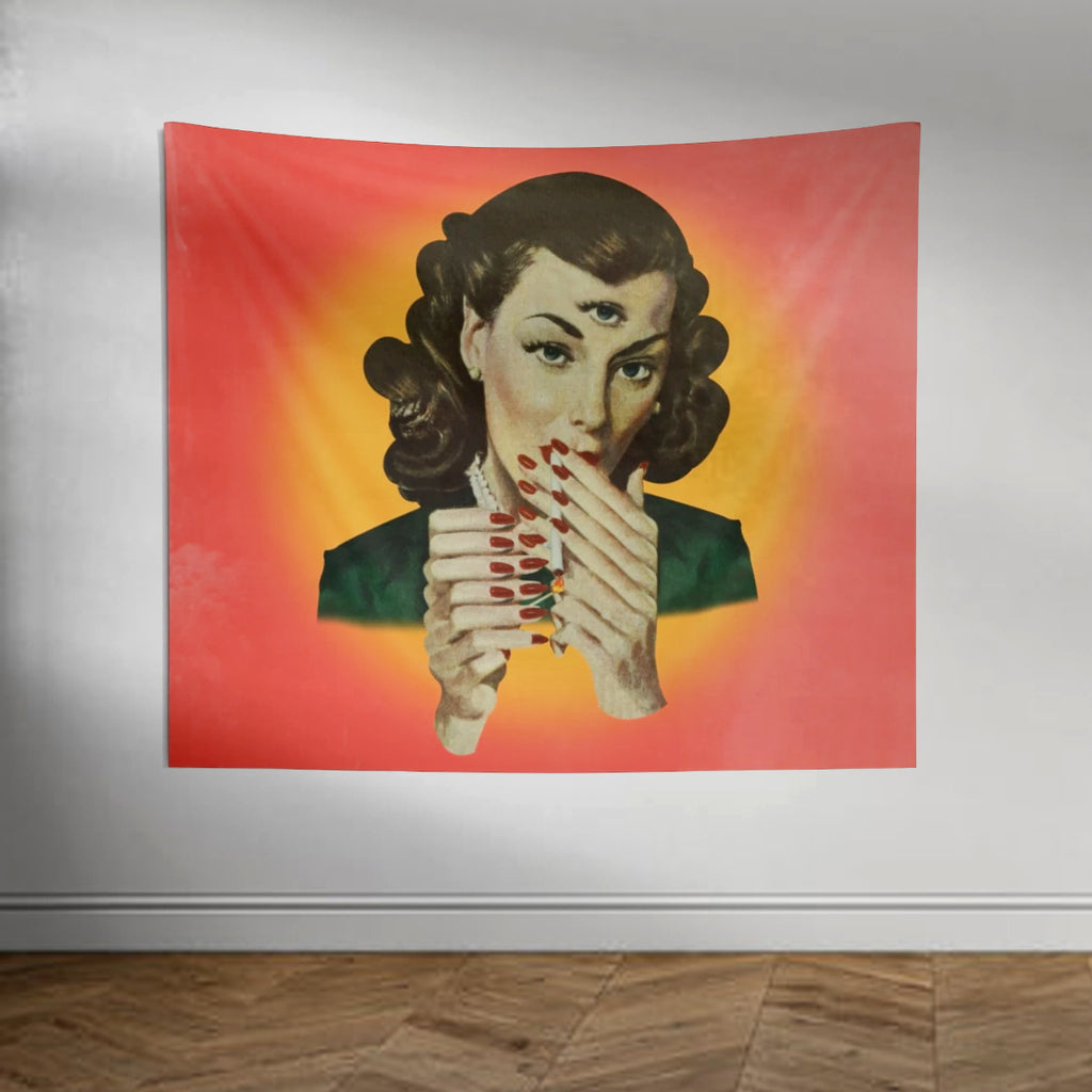 large scale pop surreal wall hanging