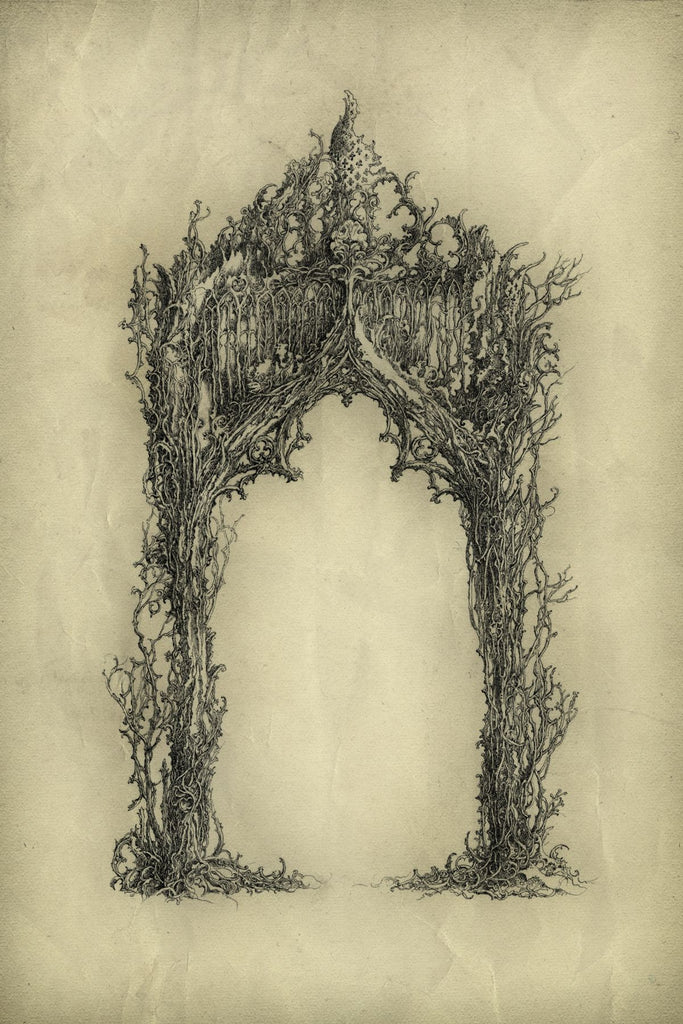 drawing gothic arch