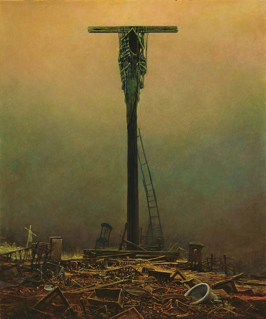 dark cross dark surrealist painting