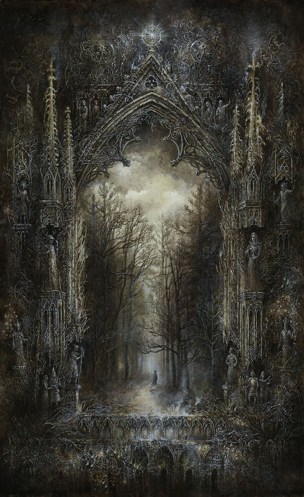gothic forest painting art