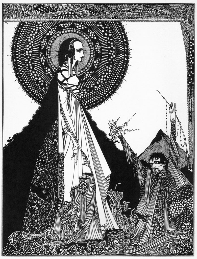 harry clarke ink illustration