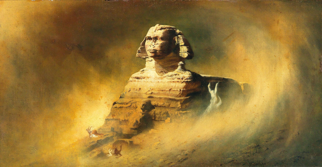 sphinx in sandstorm oil painting karl diefenbach