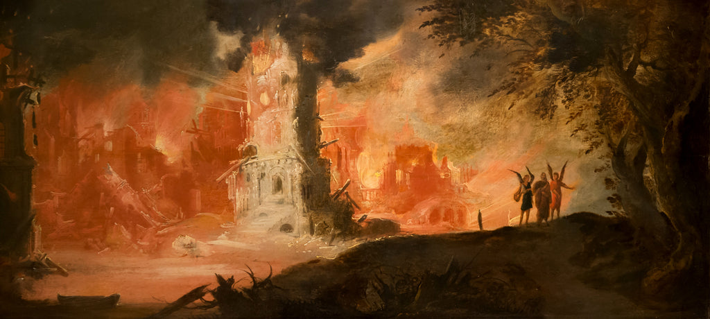 Destruction of Sodom And Gomorrah, (detail) by Francois Nome