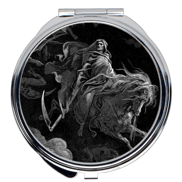 The Fourth Horseman, Death on the Pale Horse Gustave Doré Compact Mirror