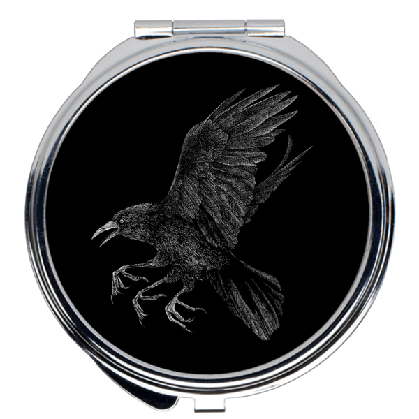 Altar of Sorrow Raven Compact Mirrors