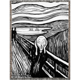 The Scream Woven Blankets