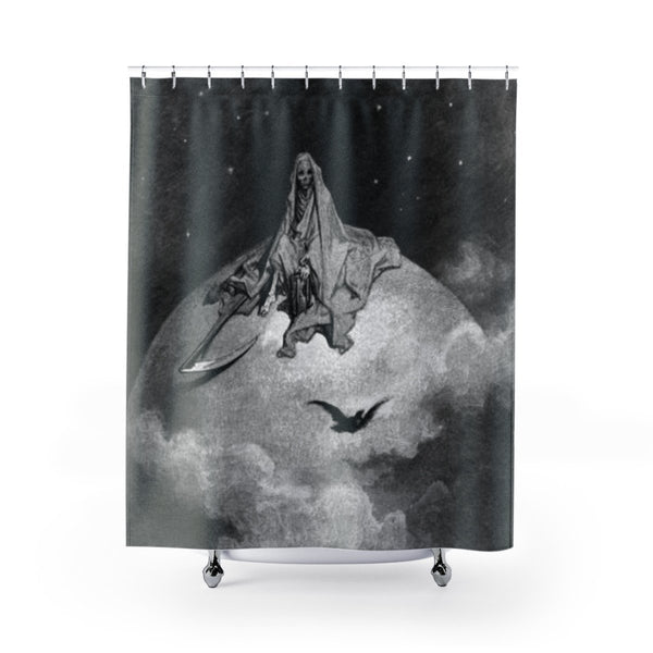 dark gustave dore shower curtain