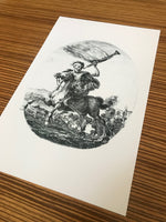 Death on Horseback Stefano della Bella Dark Art Poster Print