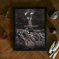dark occult black mass art print