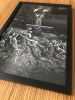 Witches Dancing at a Sabbath Gustave Doré Framed poster