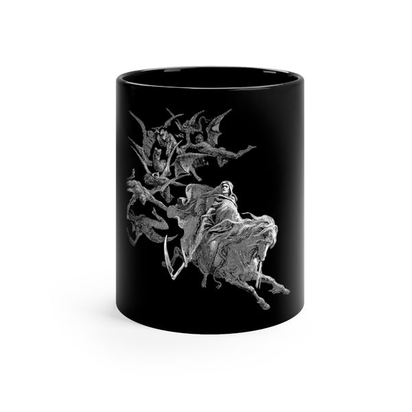 Gustave Doré Death on the Pale Horse Black Mug