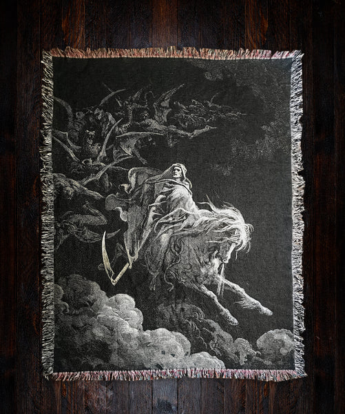 dark art woven blanket gustave dore art
