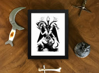 Sabbatic Goat Framed Occult Art Poster