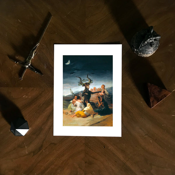 The Sabbath of witches Francisco Goya Poster Art Print