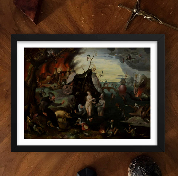 The Temptation of Saint Anthony Framed Poster