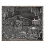 Lucifer, King of Hell Woven Art Blankets
