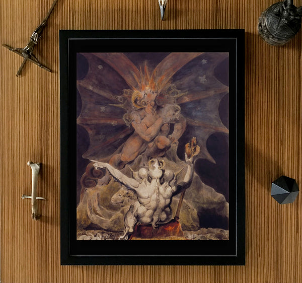 The Number of the Beast is 666 William Blake Framed poster