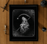 dark gothic art framed print