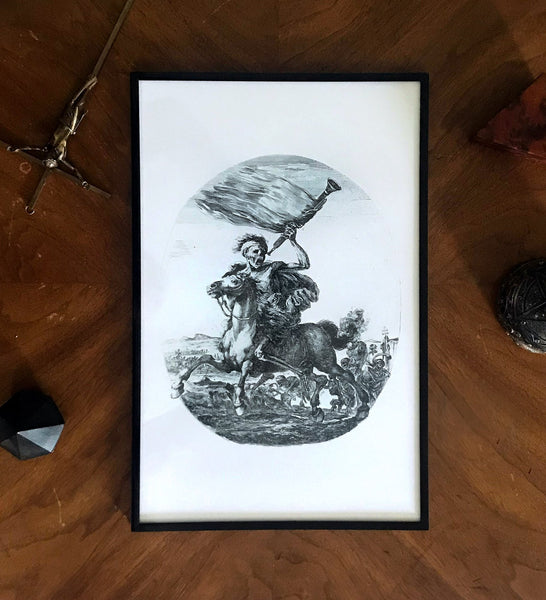 Dark Art Death on a Horse Print Poster