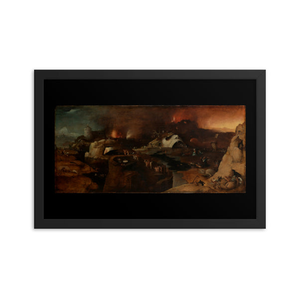 Descent into Hell Hieronymus Bosch Framed Art Poster
