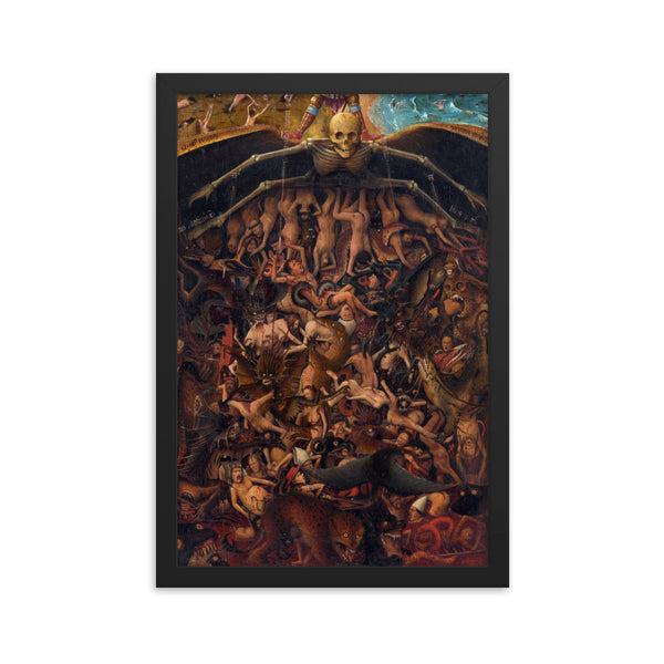 The Crucifixion; The Last Judgment Framed Poster