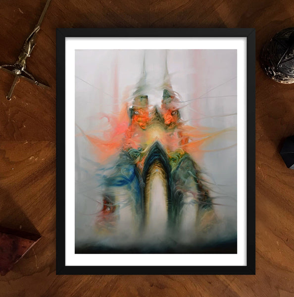 dark surrealism framed print