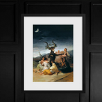 The Sabbath of Witches Francisco Goya Occult Framed Poster