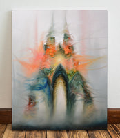 Monsters Disguised as a Gothic Cathedral Justyna Koziczak Original Canvas
