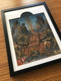 Lucifer Torturing Souls as well as Being Tortured Himself in Hell Framed Print